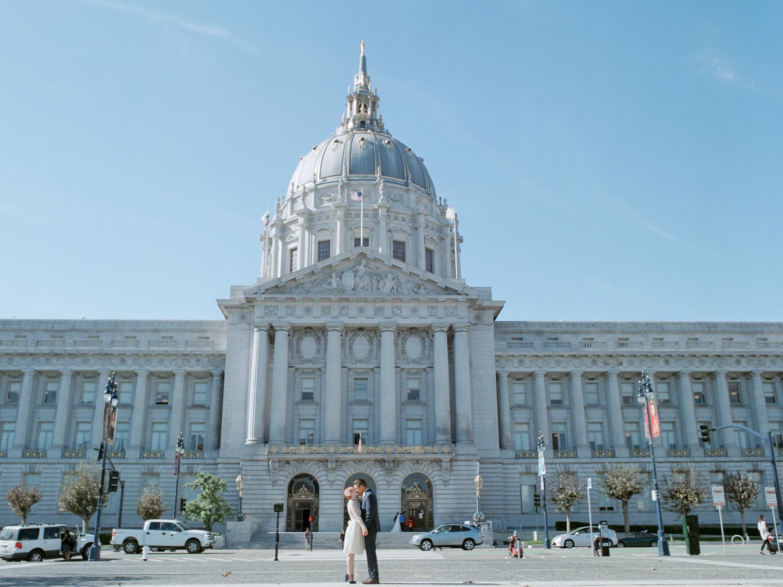 San Francisco City Hall Elopement wedding photographers