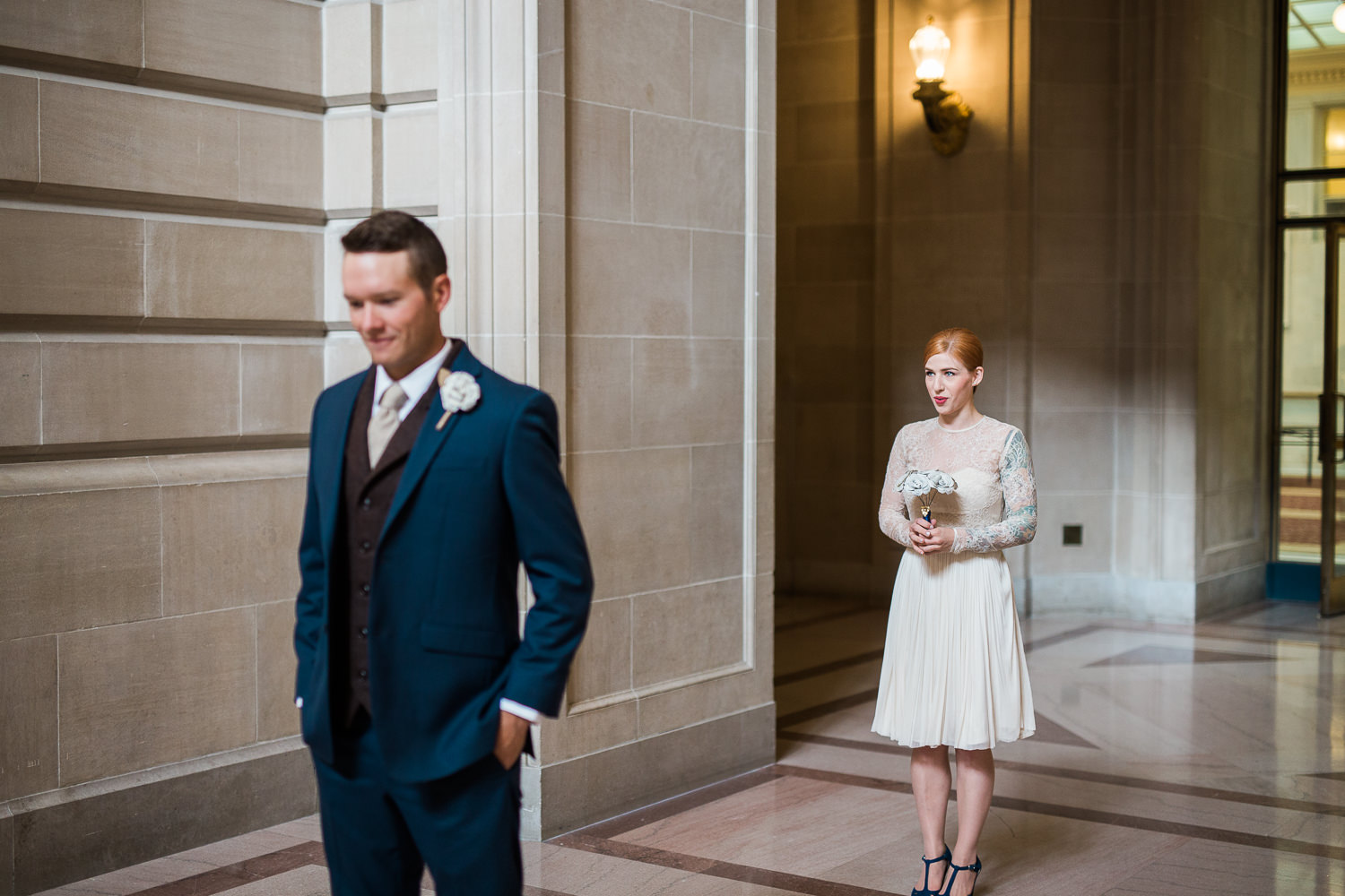 First look San Francisco City Hall Elopement