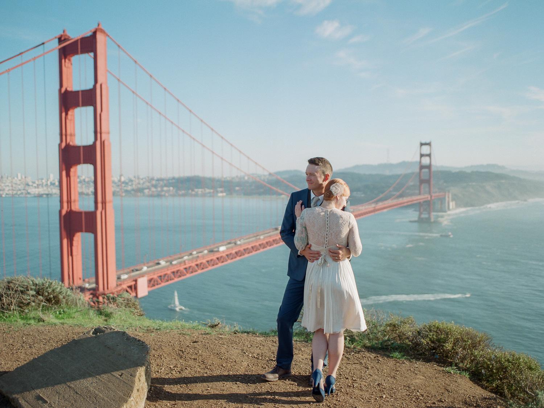 Fine art film elopement and wedding photographer San Francisco CA