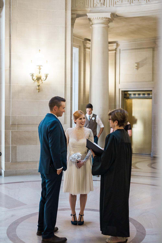 San Francisco City Hall rotunda elopement ceremony