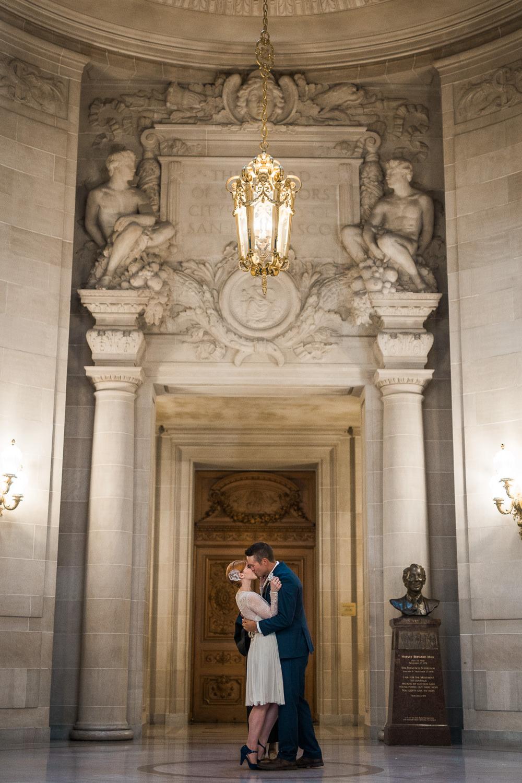 San Francisco City Hall Elopement Rotunda Wedding Pictures