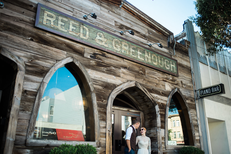 Reed and Greenough Piano bar san francisco elopement photographers