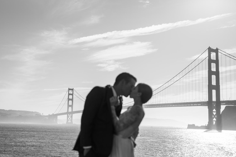 Golden Gate Bridge adventure san francisco elopement photographer