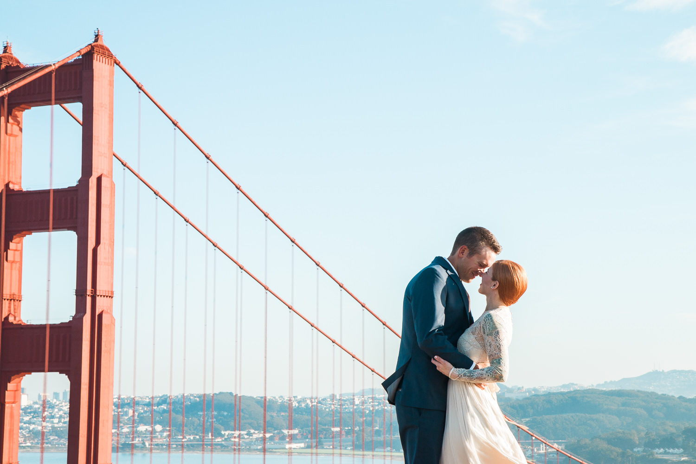 Golden Gate Bridge Marin Highlands adventure elopement photography