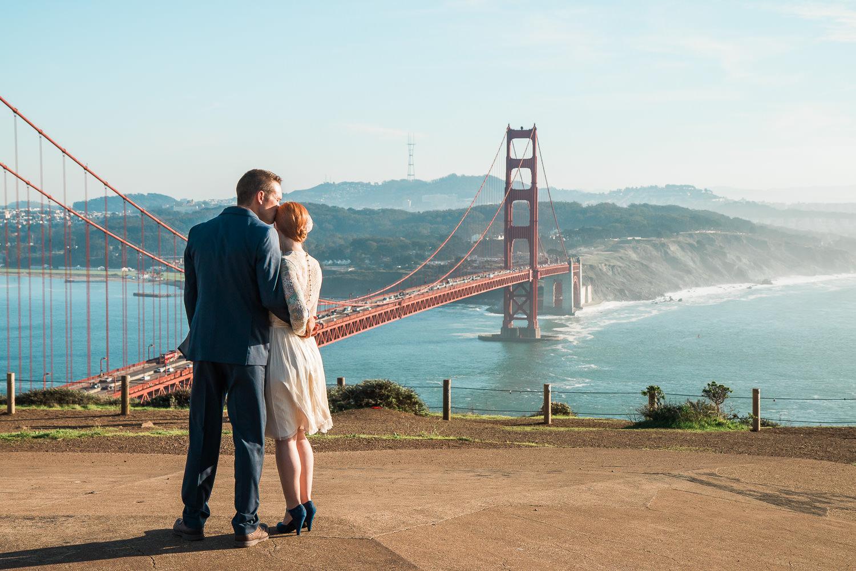 San Francisco Golden Gate bridge adventure elopement photos