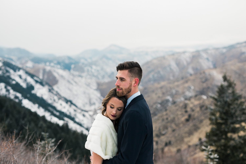 Intimate Mountain Elopement Inspiration Golden Colorado