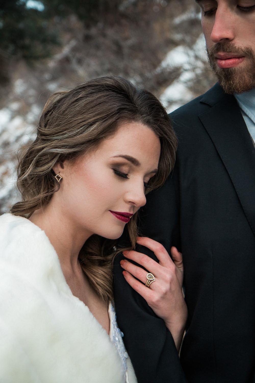 Bridal hair and make up custom wedding jewelry Denver Colorado local