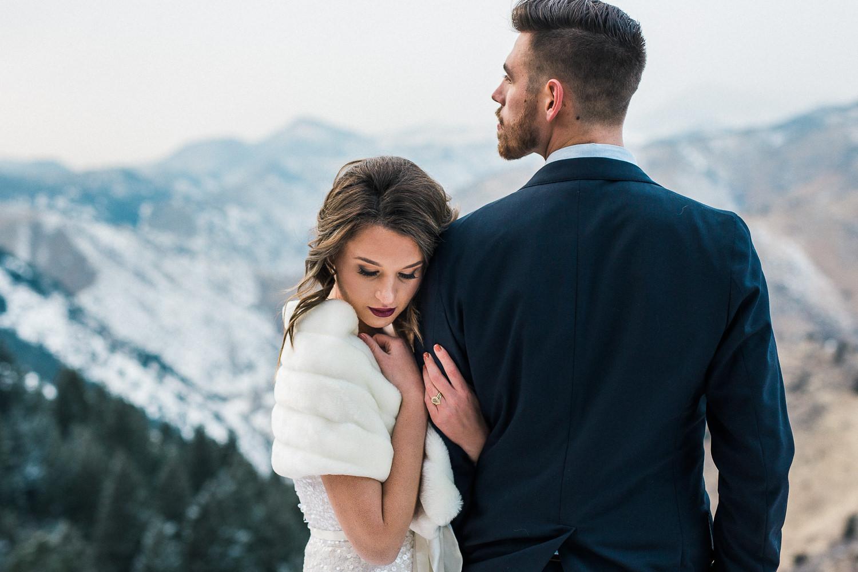 Rocky Mountain winter wedding adventure photographers