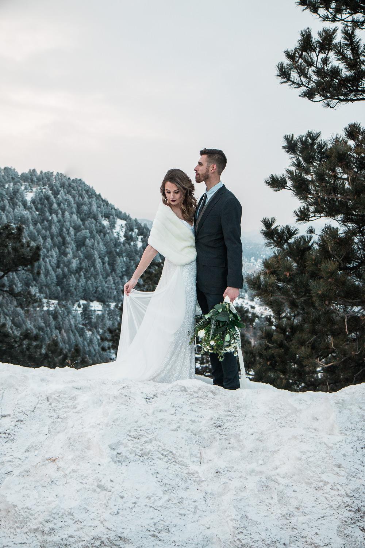Colorado winter mountain wedding photographers
