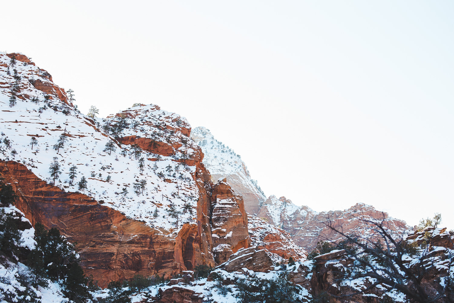 Zion National Park Canyon Overlook Trail Winter