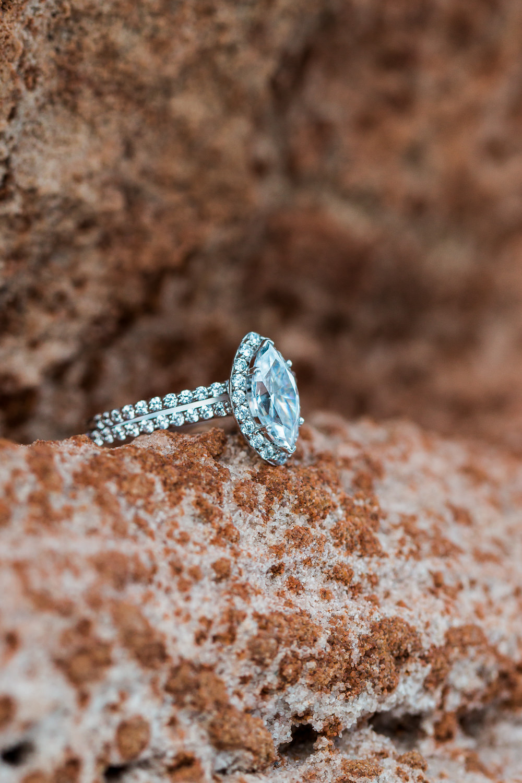 Seven Oaks Fine Jewelers Custom Wedding Ring Marquis St George Utah