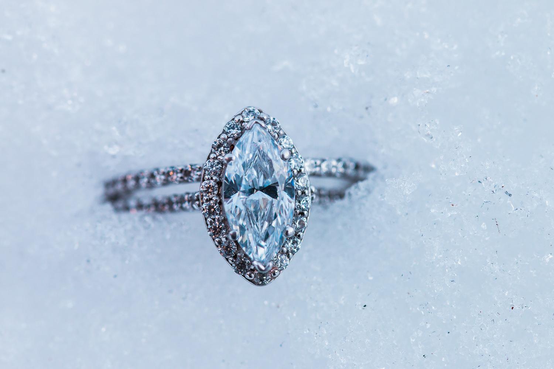 Wedding ring snow detail Seven Oaks Fine Jewelers Saint George Utah