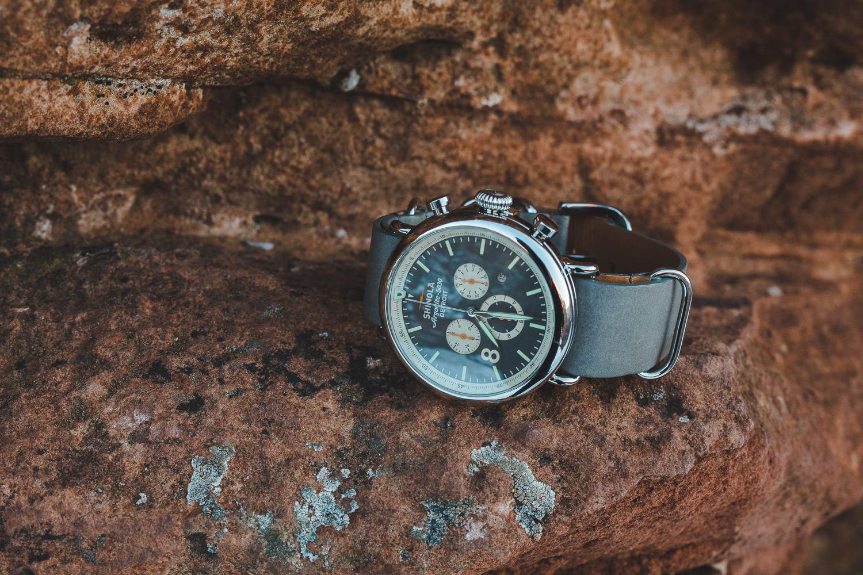 Shinola Groom's watch classy detail