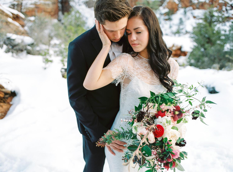 Fine art real film wedding photographers Zion National Park Fuji Pro 400h