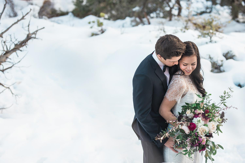Zion National Park winter elopement Utah Photographers