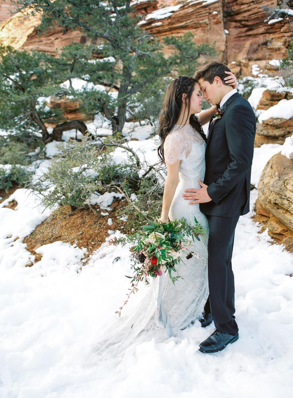 Fine art film wedding photographer Zion National Park Fuji 400h