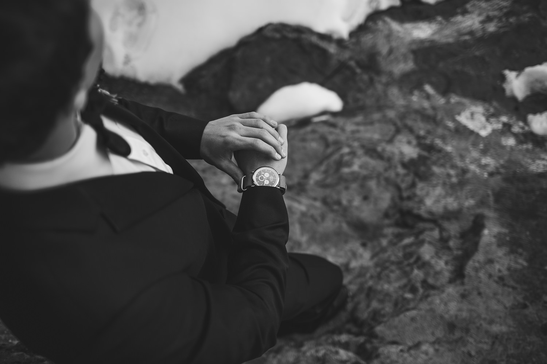 Trendy Groom accessories Shinola wristwatch Zion Wedding