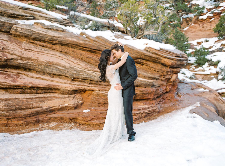 Canyon Overlook Trail Zion National Park wedding photographers Utah
