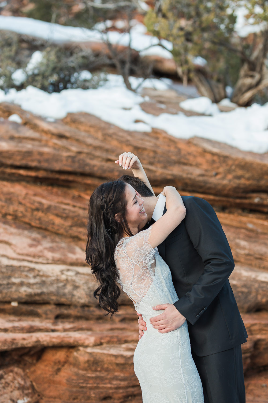 Husband and wife team adventure wedding photographers