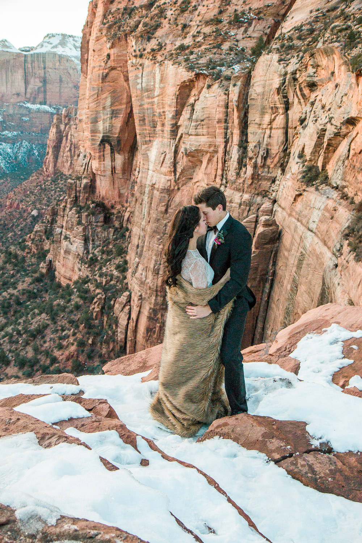 Zion National Park Canyon Overlook Destination Wedding Photographers
