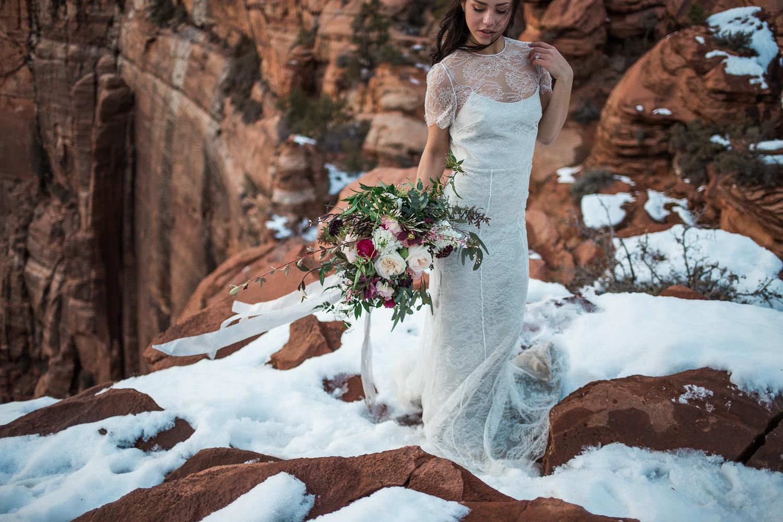 By Bloomers wedding bouquet silks Alexandra Grecco designer wedding gown