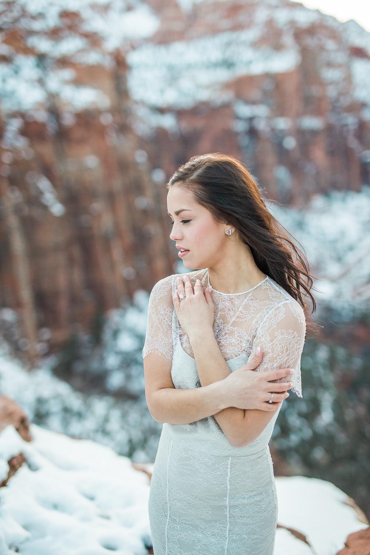 Zion national park destination elopement wedding photography
