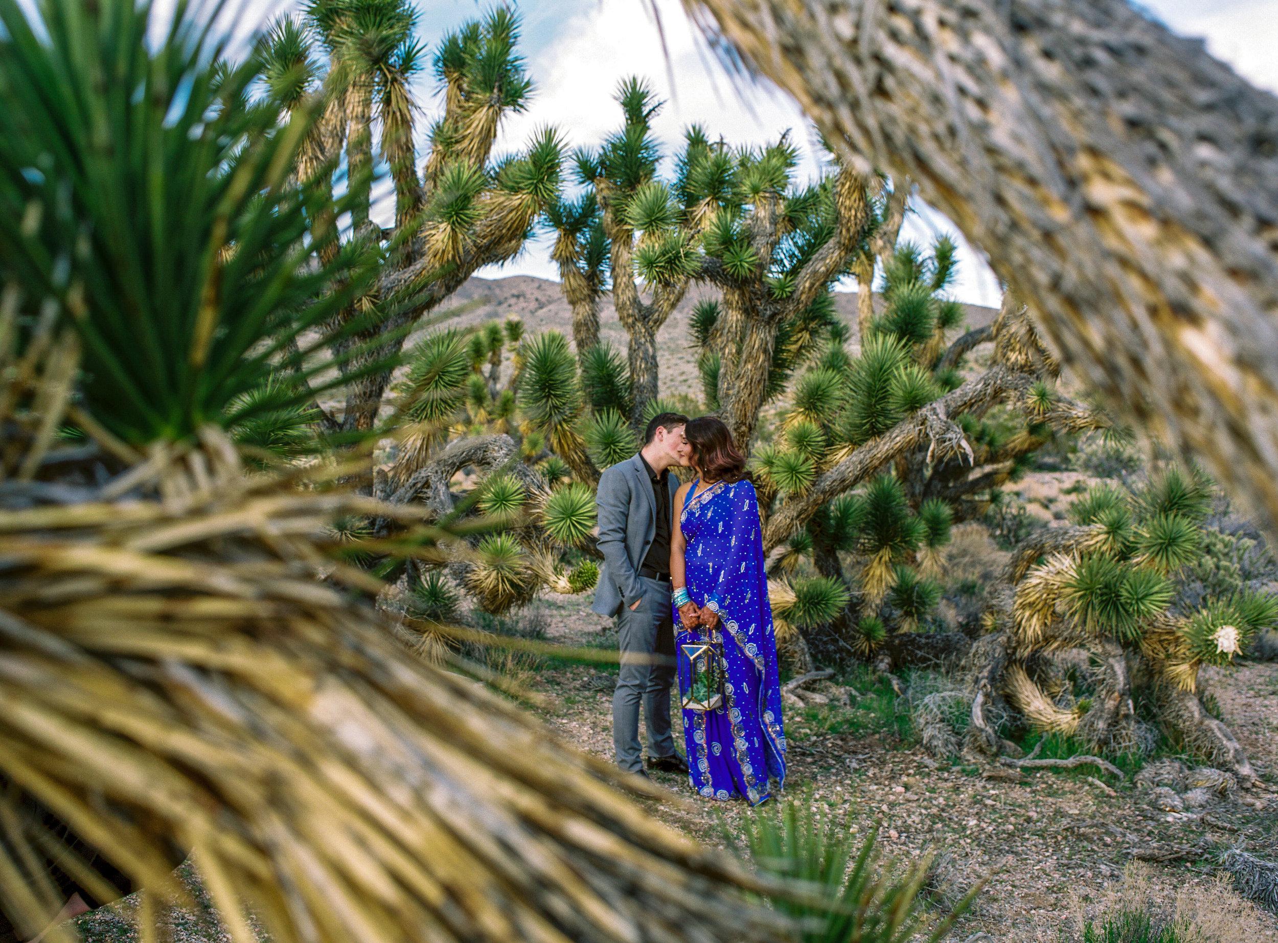 Epic Joshua tree elopement Fine art film photographers Kyle Loves Tori Photography