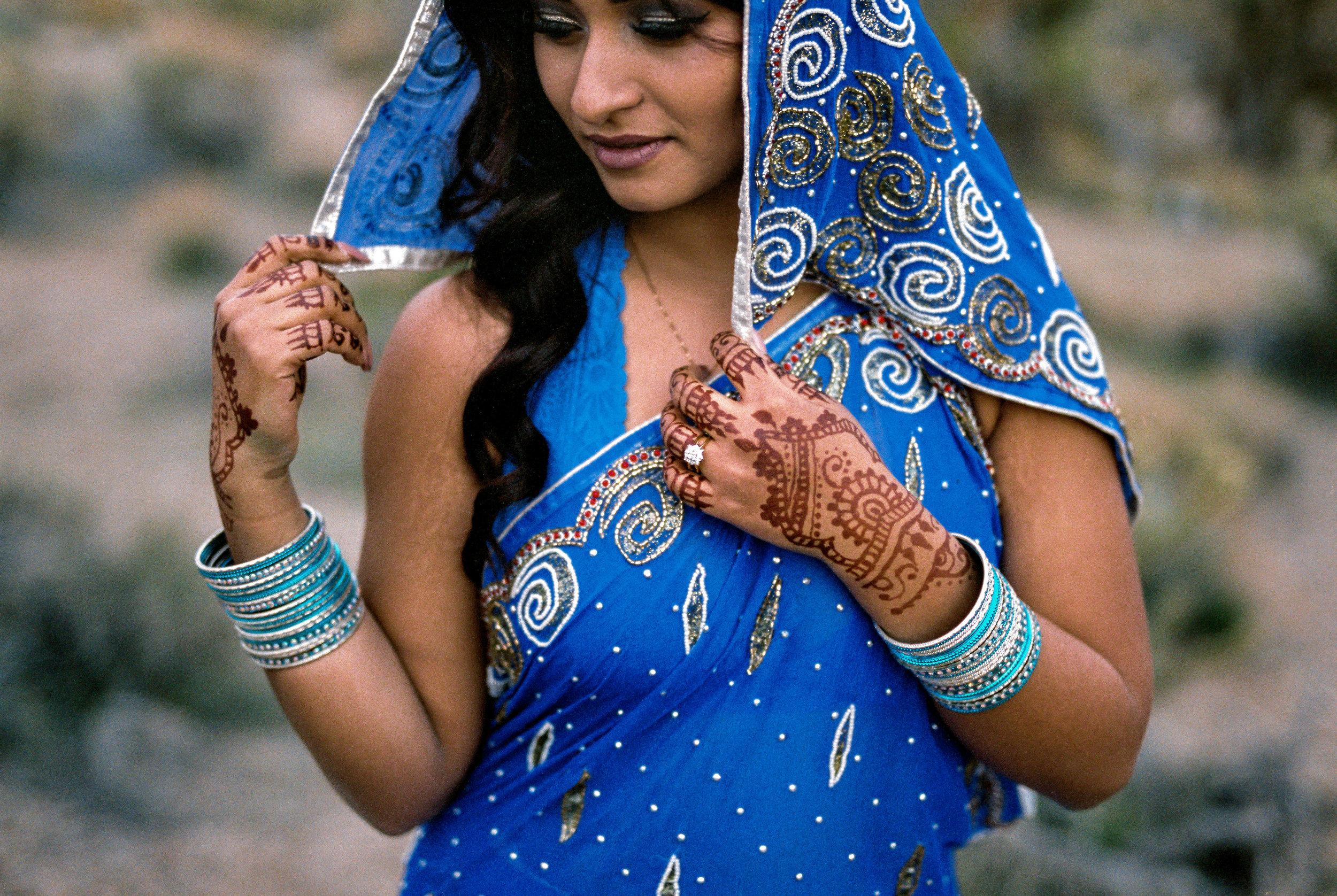 Nepali traditional wedding dress elopement Kyle Sheppard fine art film wedding photographer