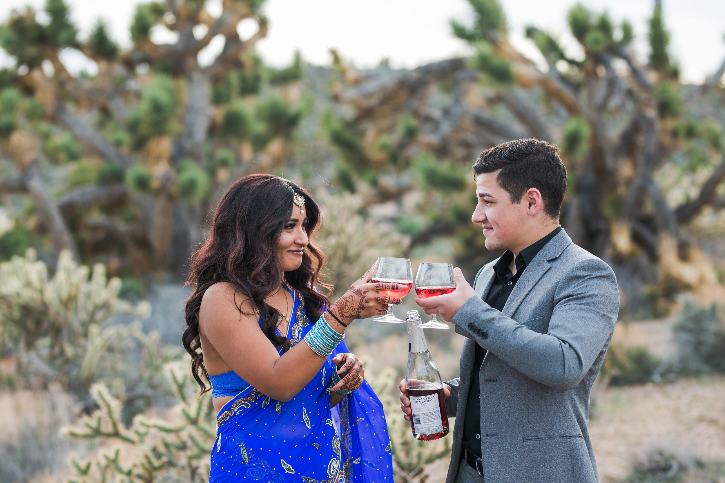 Ethnic couple elopes in southern Utah desert Kyle Loves Tori Photography