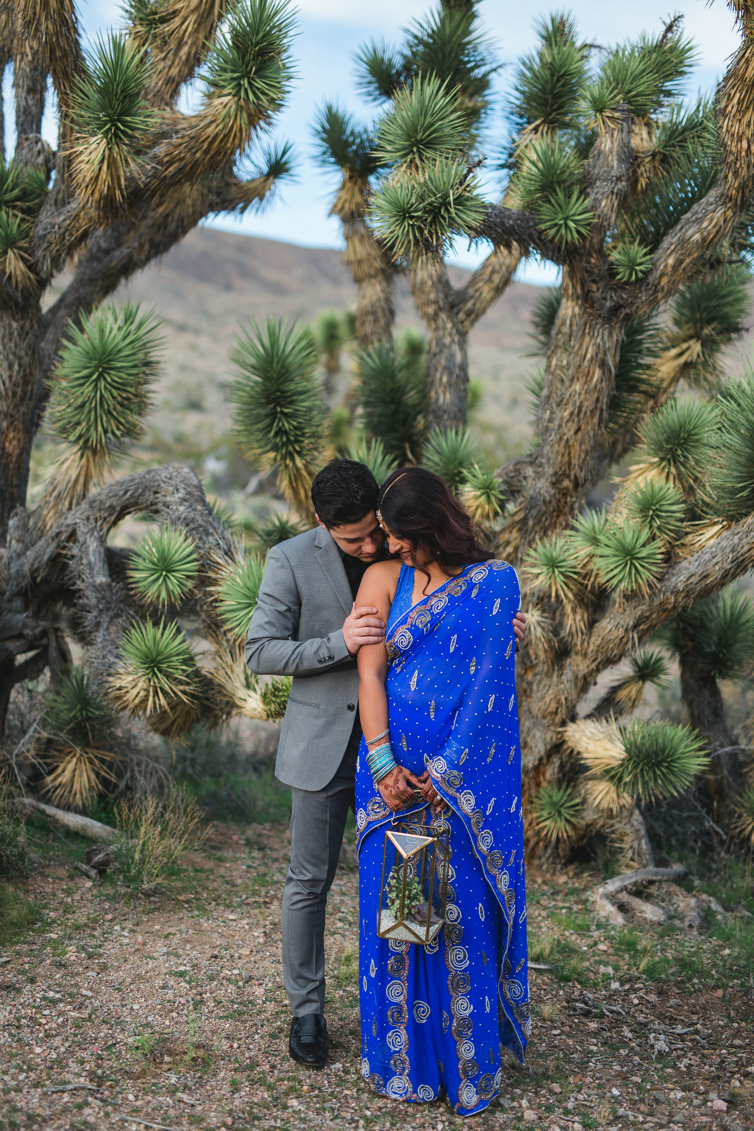 Intimate interracial couple elopes in the desert Kyle Loves Tori Photography
