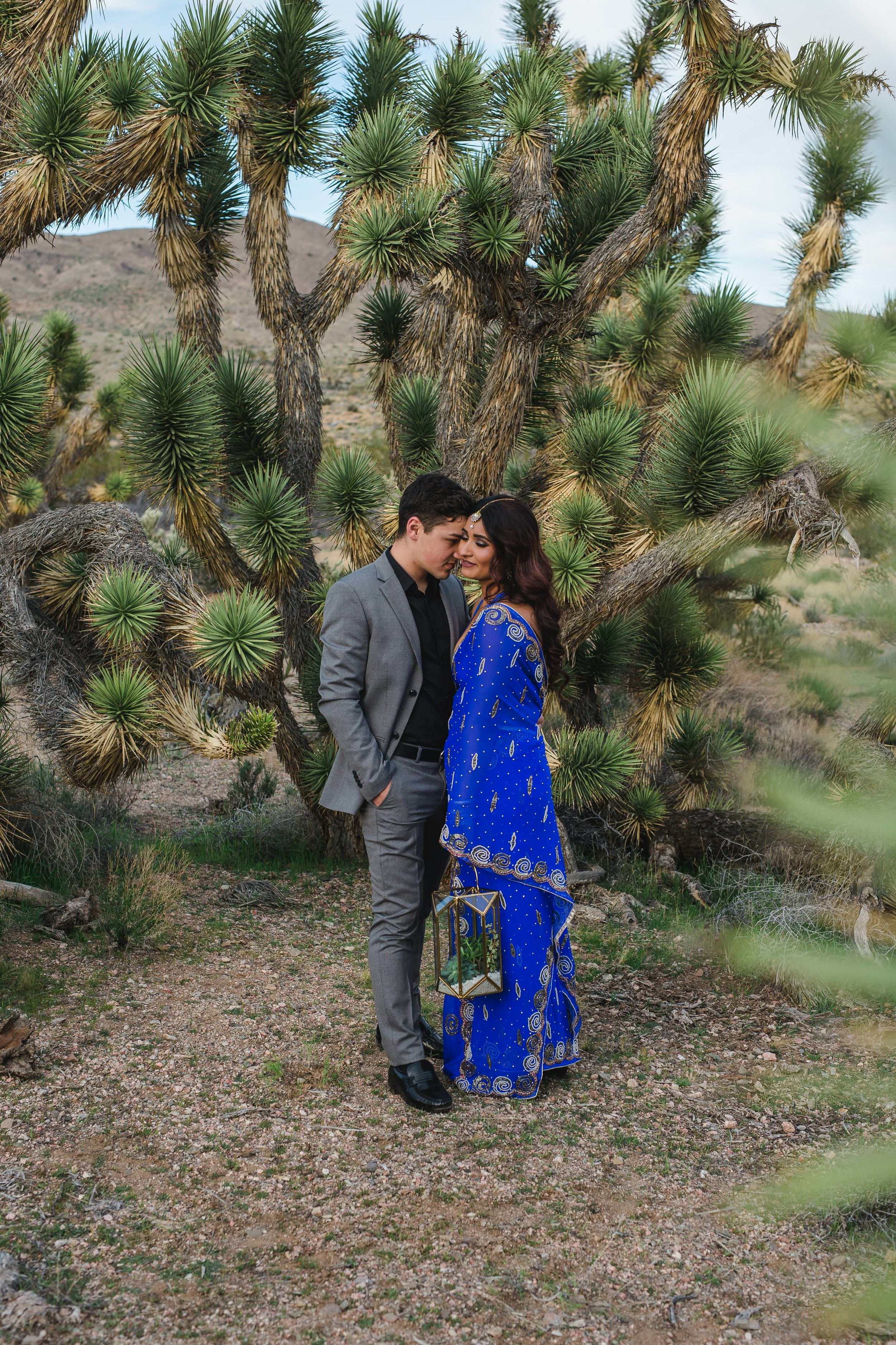 Epic Joshua Tree elopement Indian Bride Russian Groom Kyle Loves Tori Photography