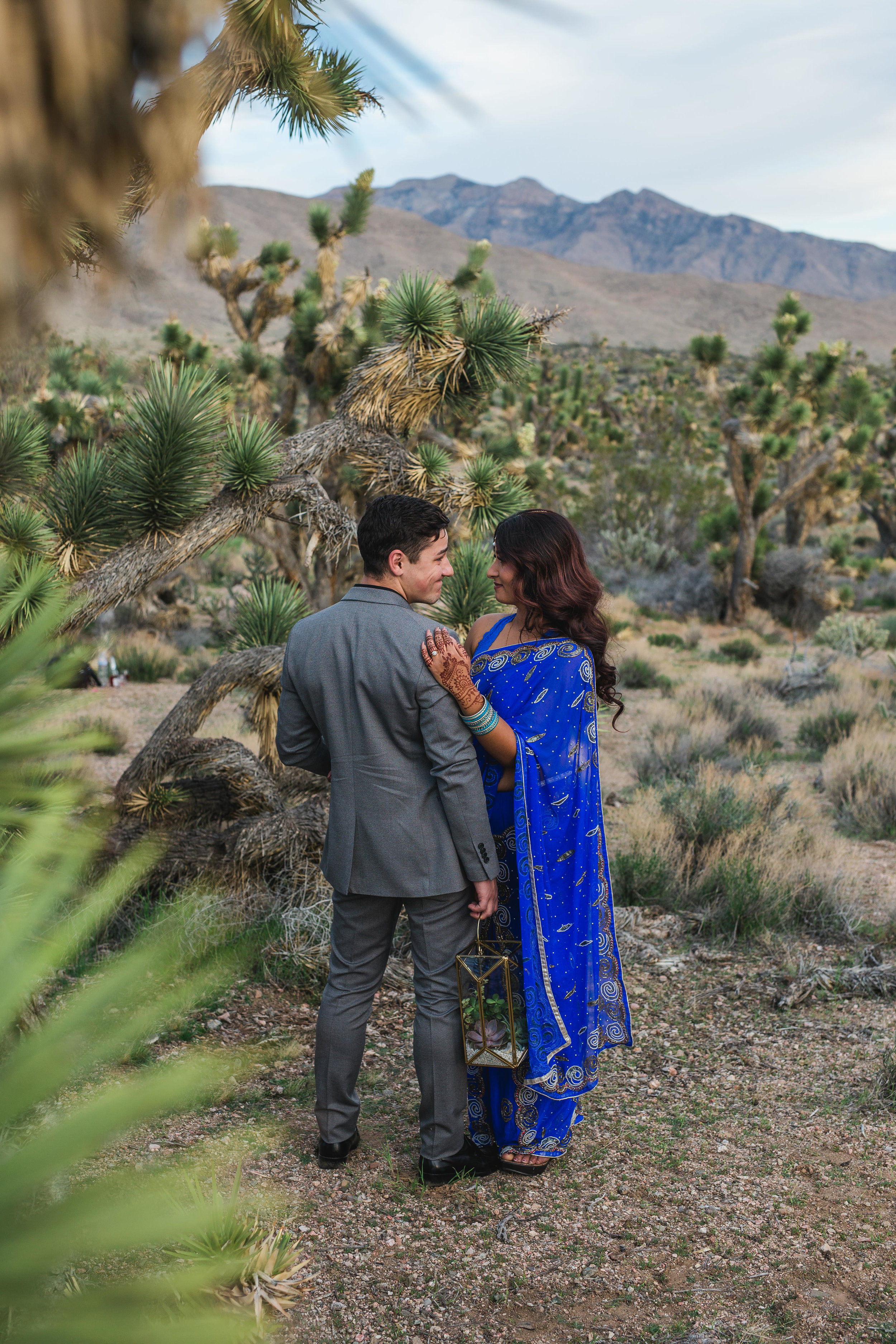Epic Joshua tree adventure elopement in the desert Kyle Loves Tori Photography