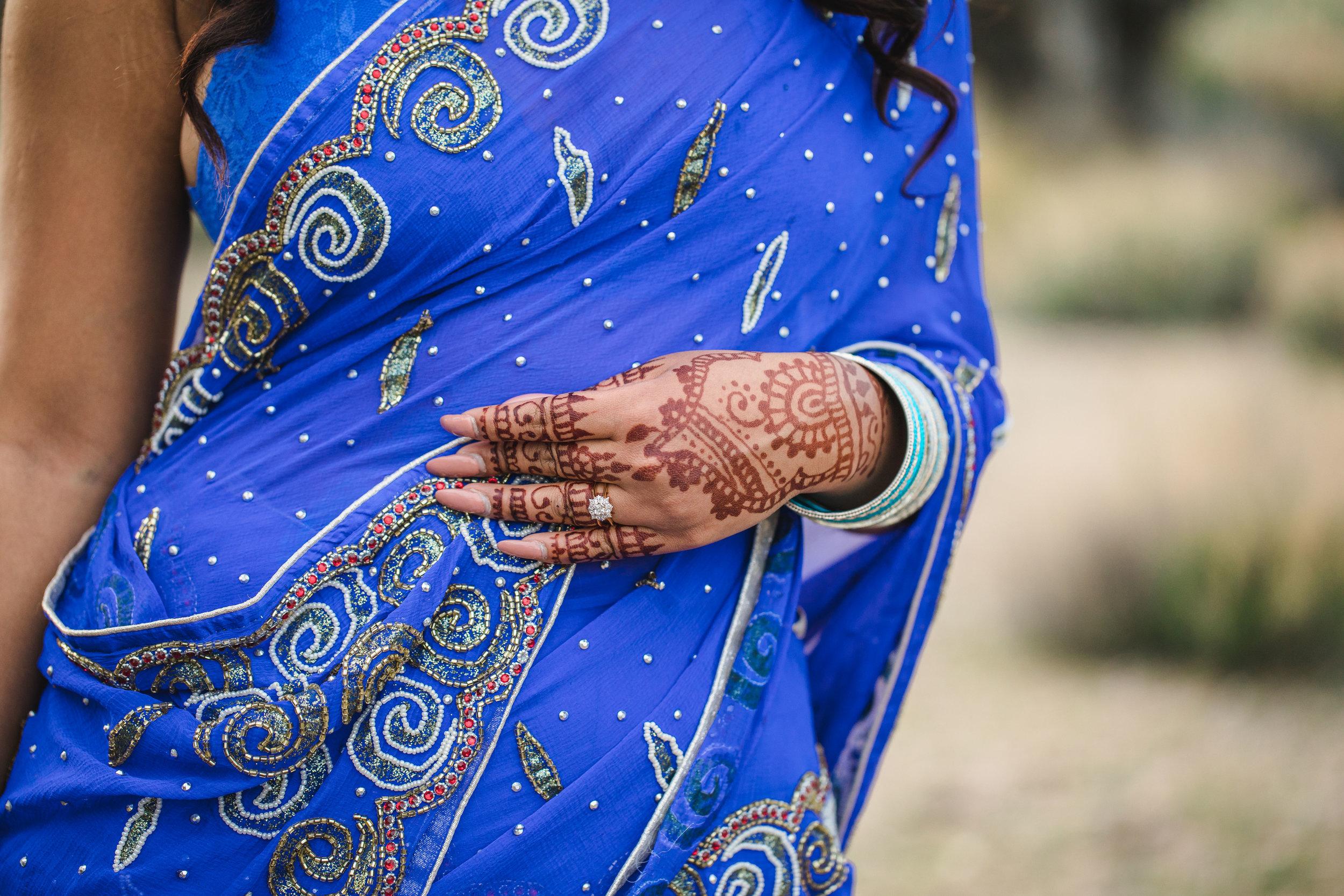 Nepali saree bridal henna mehndi wedding ring from Seven Oaks Fine Jewelers Saint George Utah Kyle Loves Tori Photography