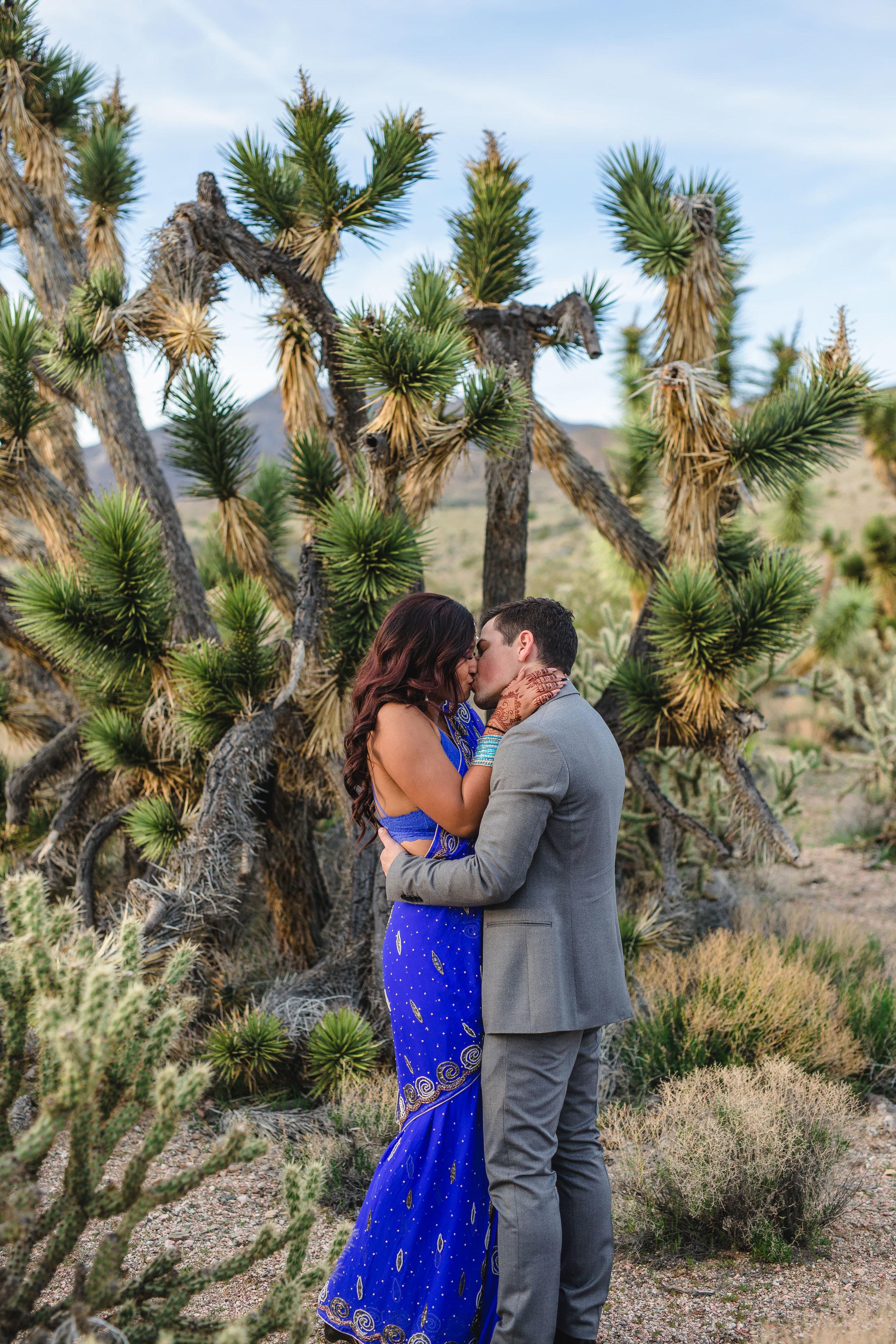Epic indian elopement in Joshua Tree Utah Desert Kyle and Tori Sheppard