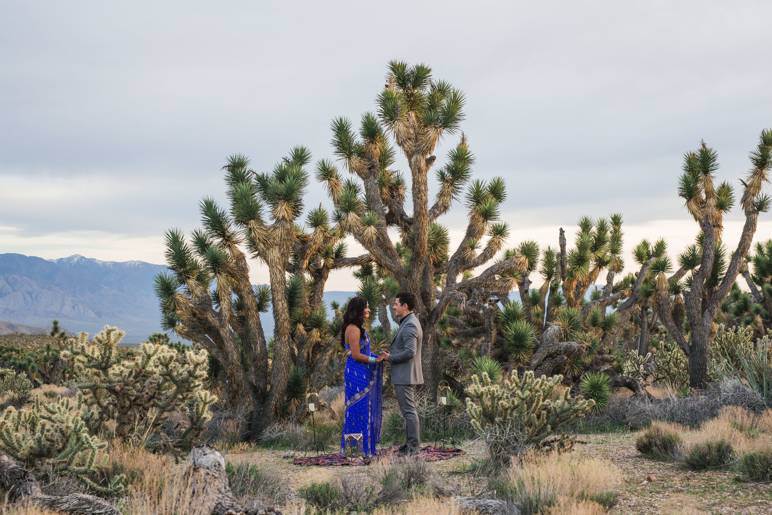 Ethnic couple exchanges vows during their desert elopement in Utah Kyle Loves Tori Photography