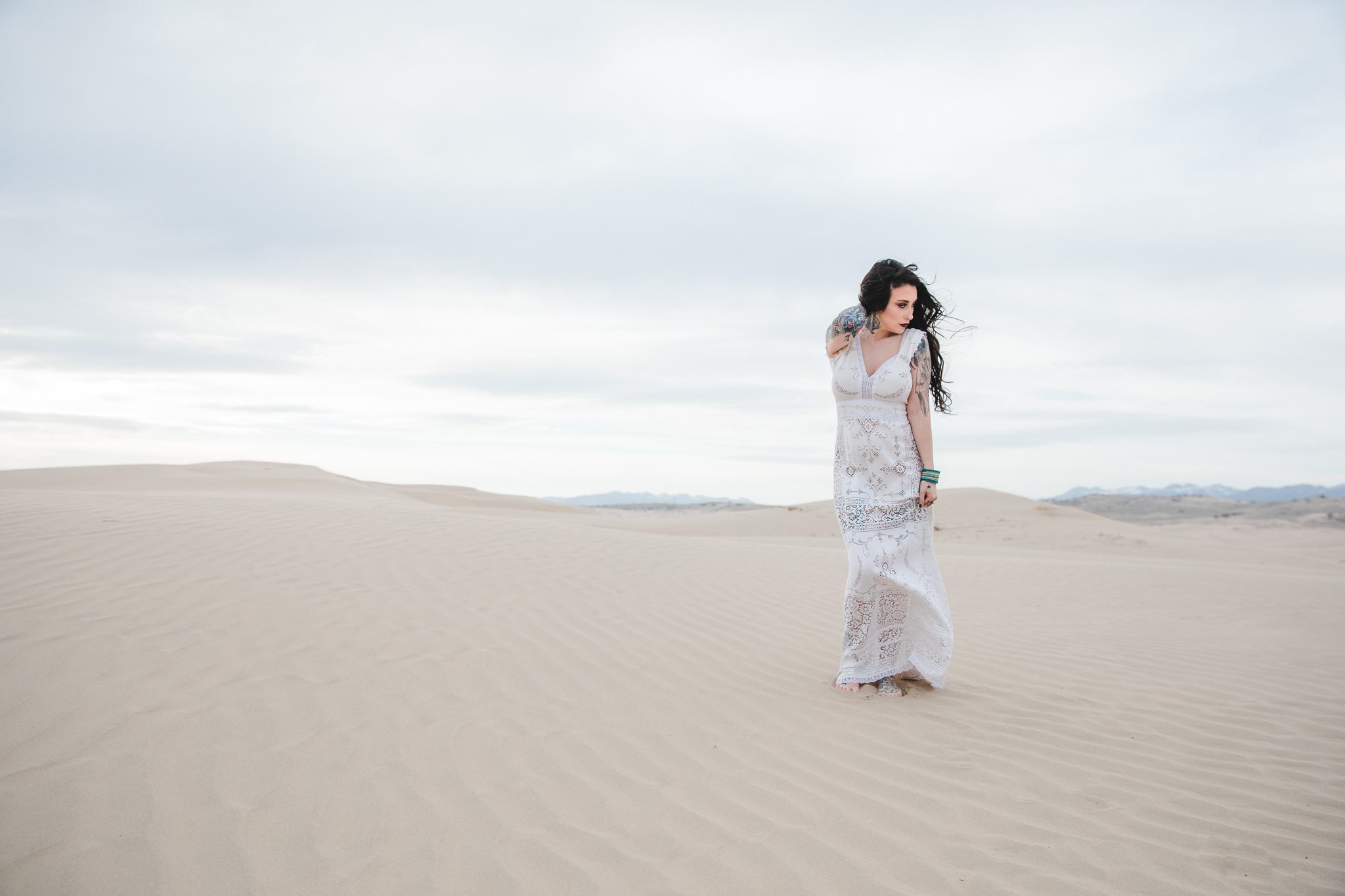 Saldana Vintage Boho Wedding Dress Utah