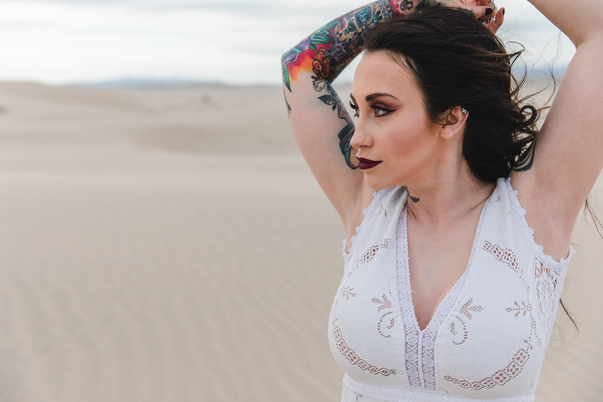 Tattooed Bride Adventure Desert Elopement