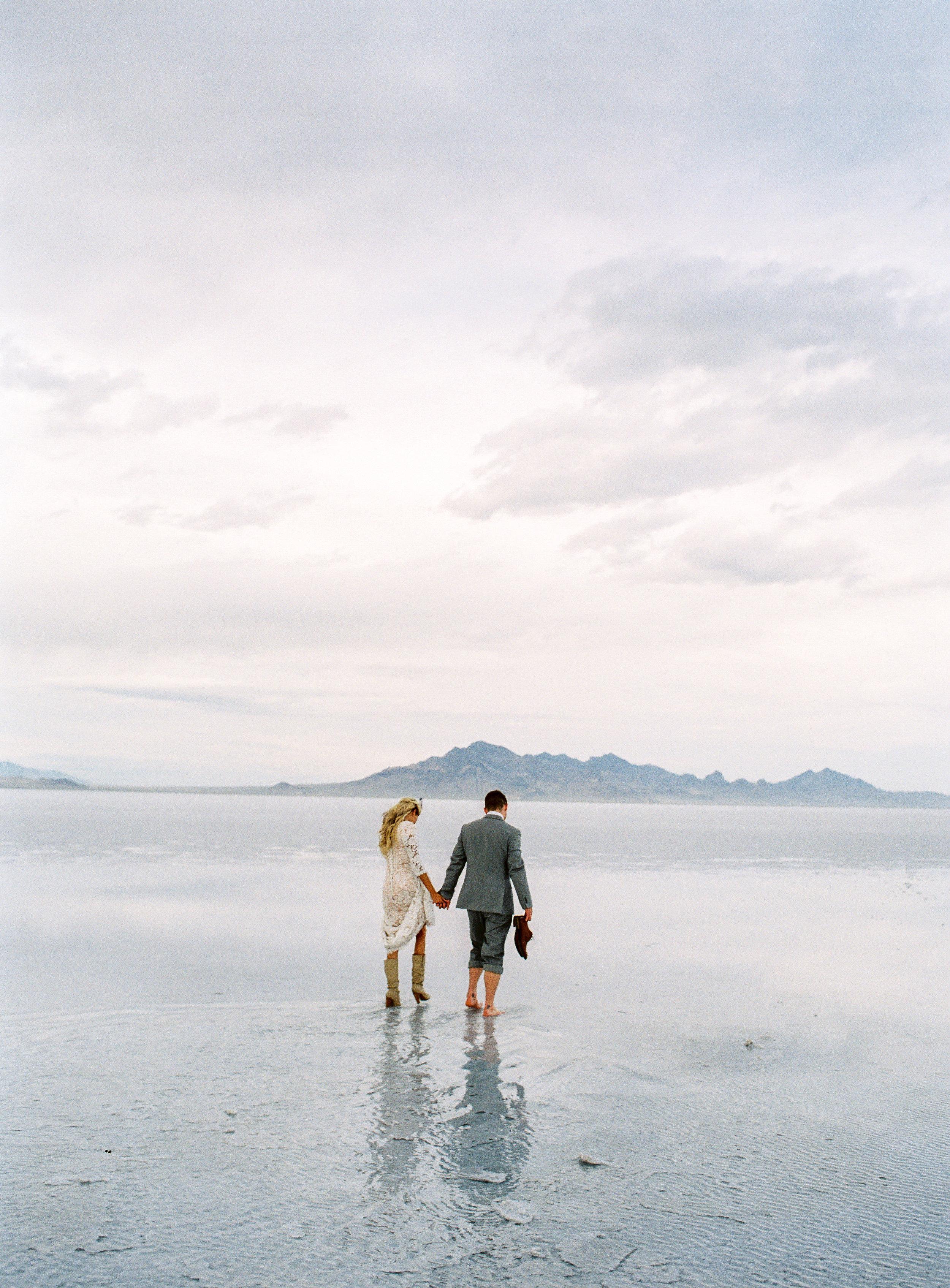 Fuji 400h fine art film photographer bonneville salt flats bridals utah