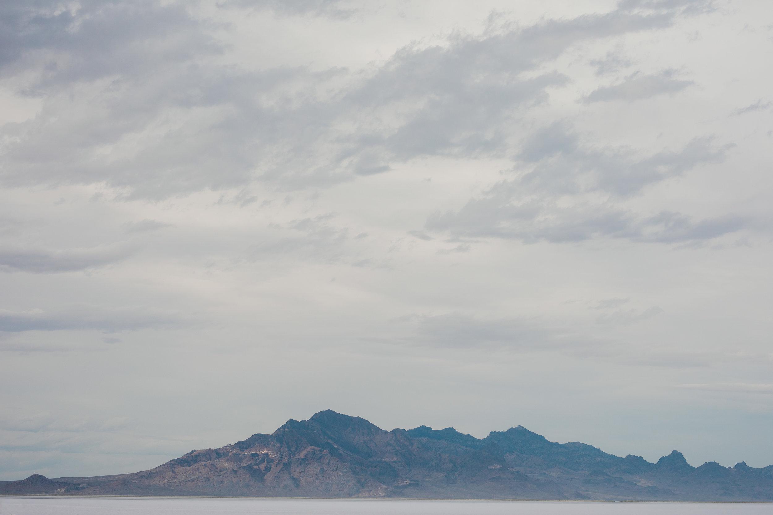 Bonneville Salt Flats mountain landscape detail