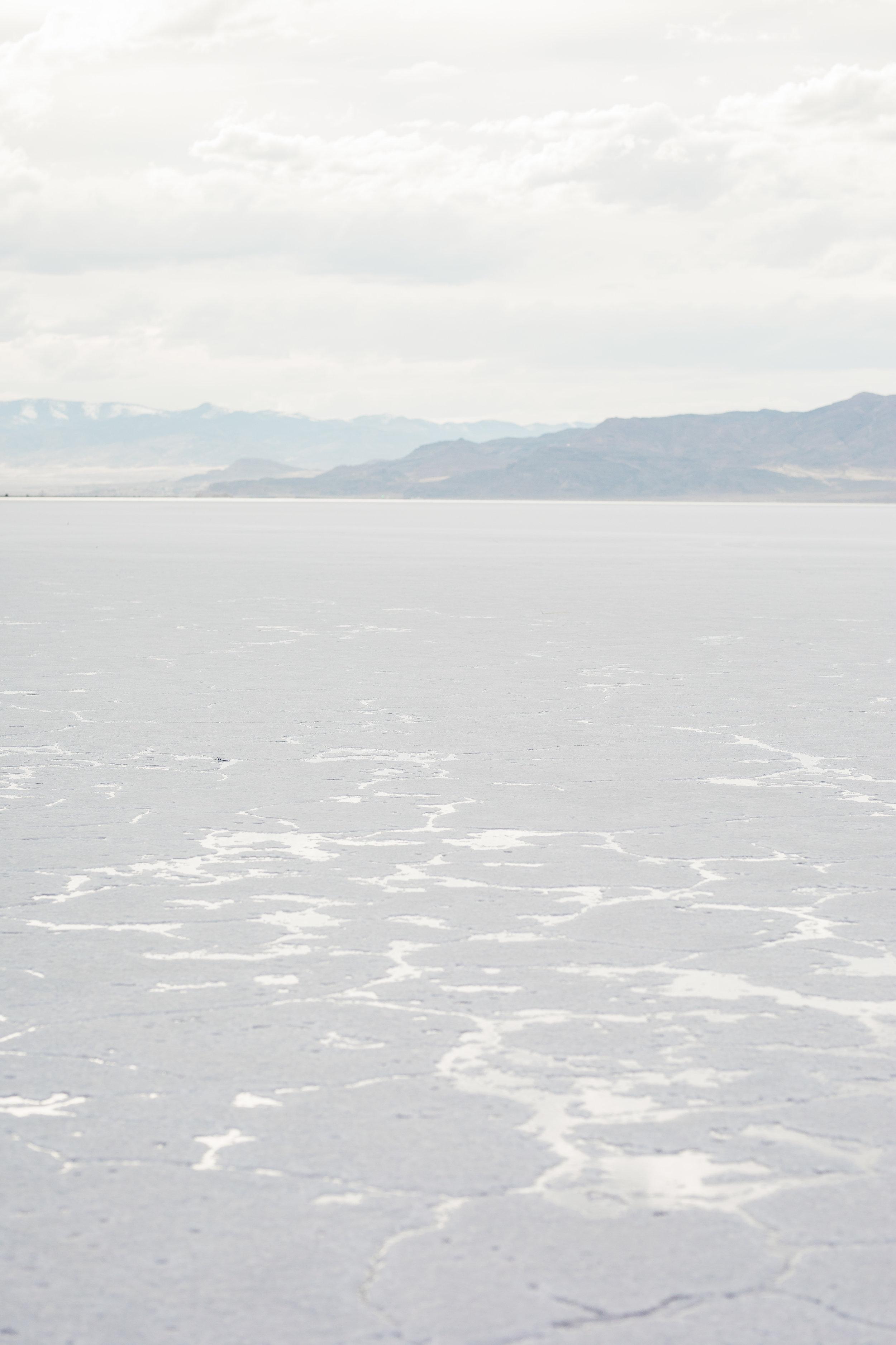 Bonneville Salt Flats terrain landscape detail