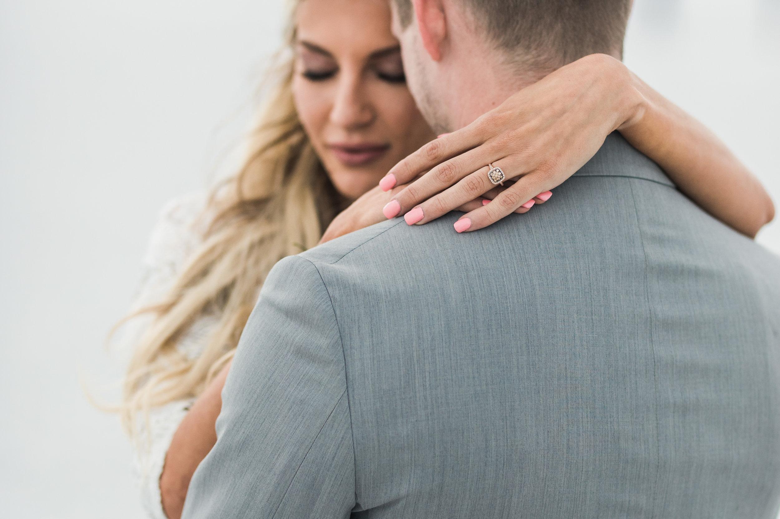 Close up Bonneville salt flats elopement bridals Utah wedding photographers