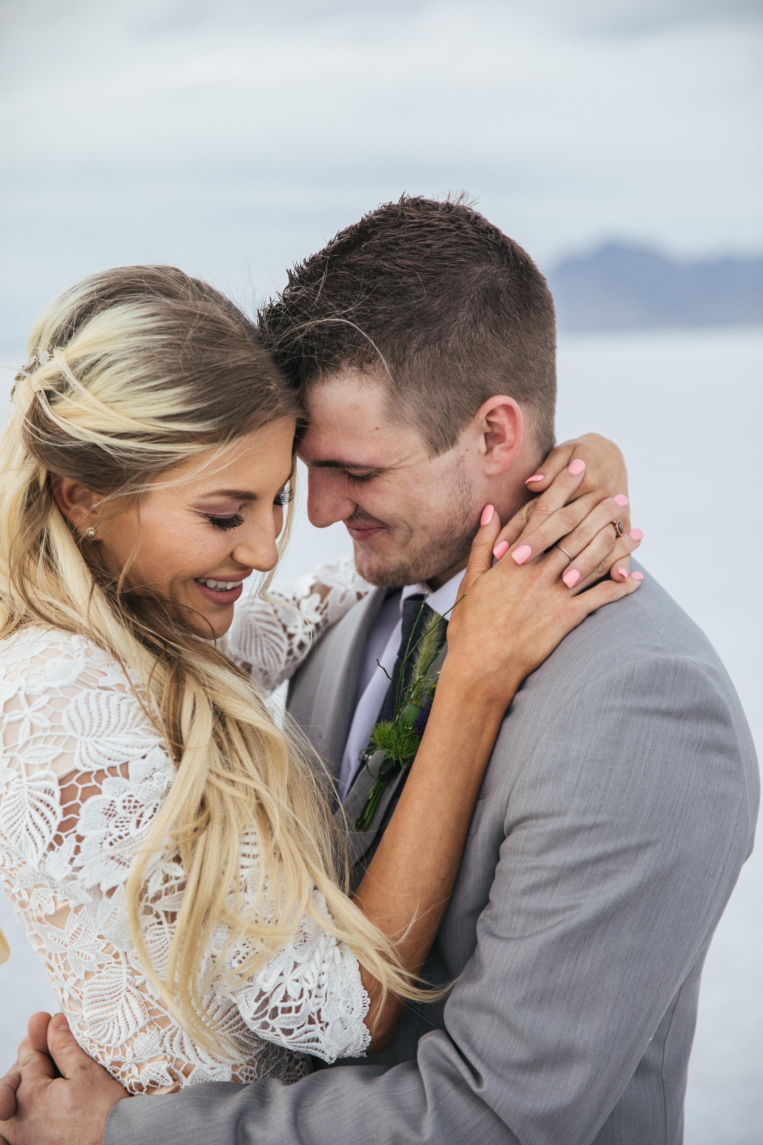 Intimate wedding portraits utah elopement photographers