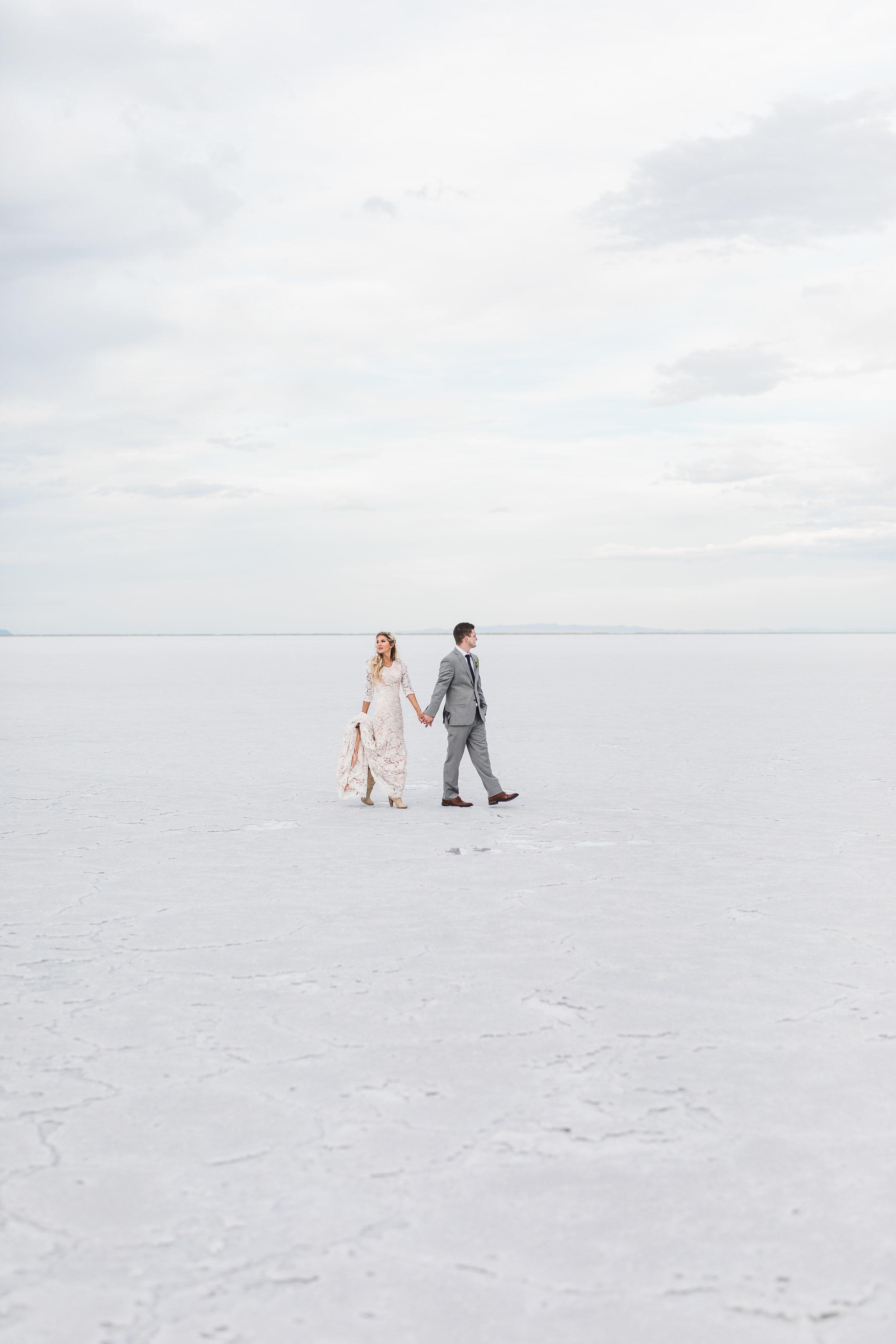 Bonneville Salt Flats Utah Adventure Wedding Photography