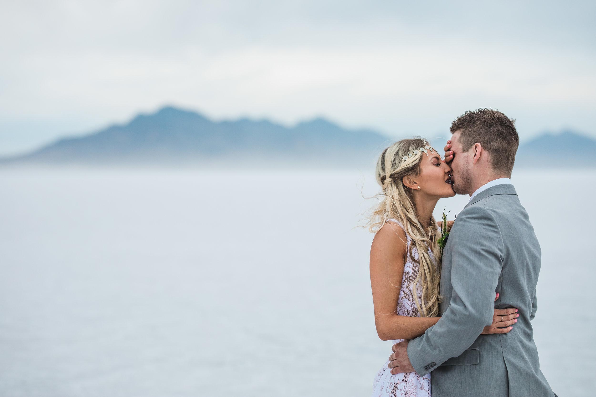 Fine art wedding photographers Bonneville Speedway elopement