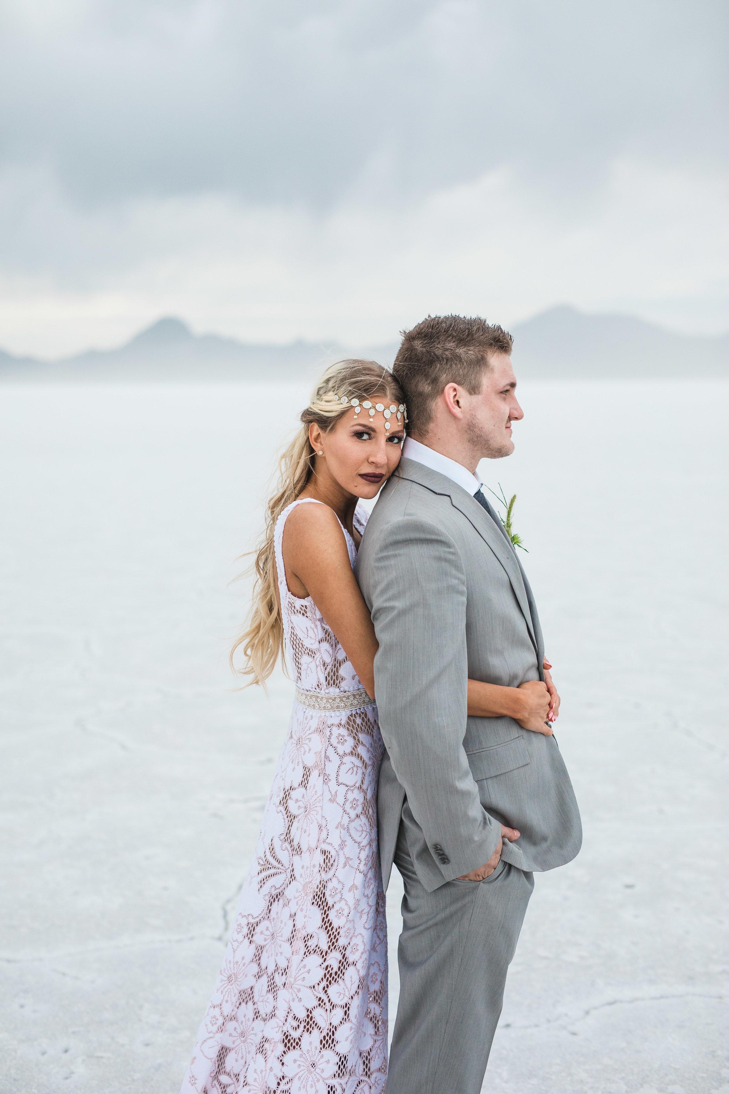 Kyle Loves Tori Kenny Dawn bridal collaboration Bonneville Salt Flats
