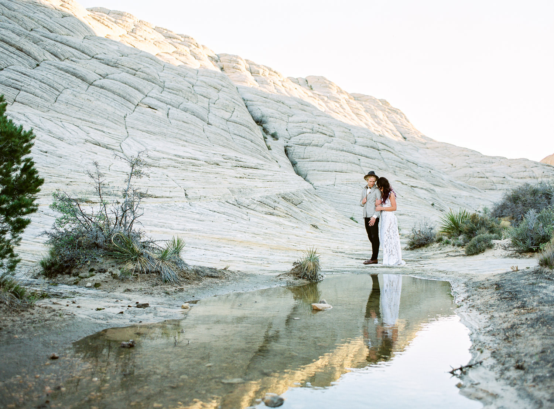 Fine art film adventure wedding elopement photographers Snow Canyon State Park Utah Fuji 160ns