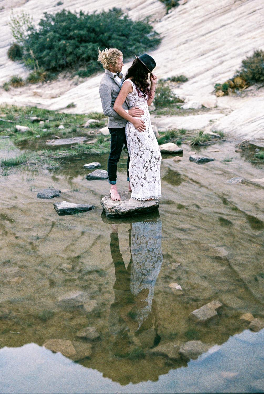 Southern Utah adventure elopement Snow Canyon State Park fine art film photographers
