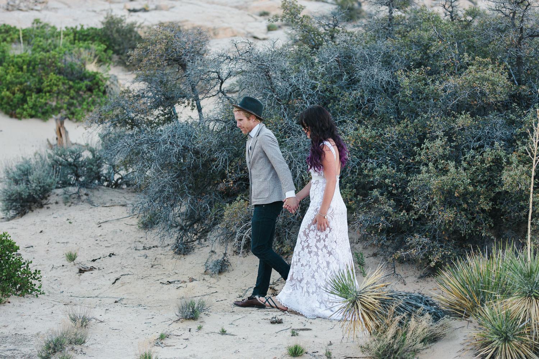 Adventure wedding and elopement photographers desert southern Utah