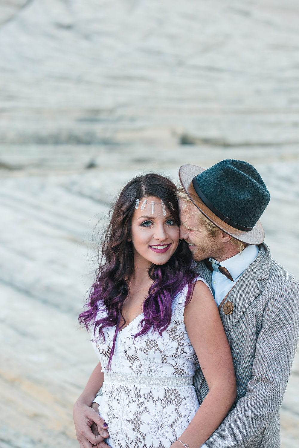 Intimate boho wedding pictures Kyle and Tori Sheppard