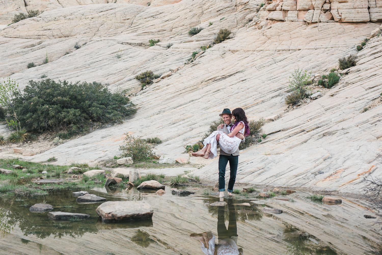 Desert oasis adventure elopement photography Kyle and Tori Sheppard